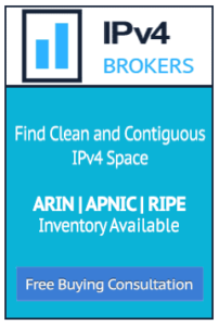 IPv4 brokers ad